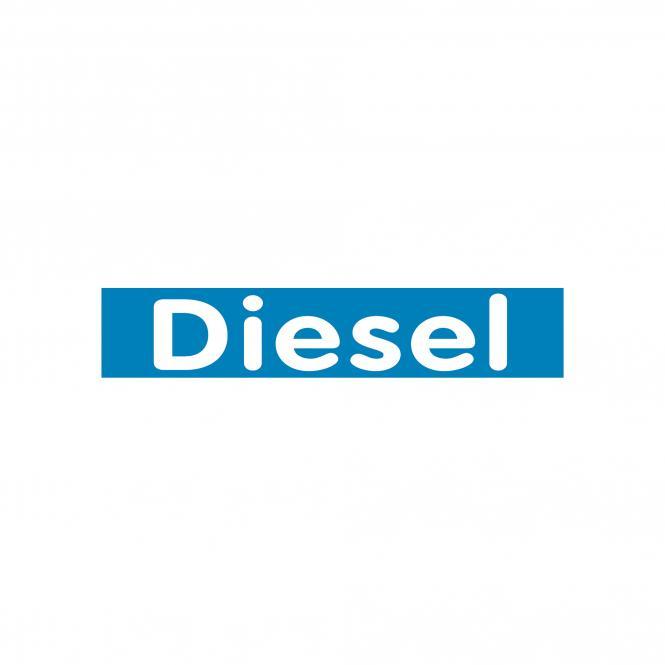 Hinweisschilder blau/weiß, 10 Stück | Diesel