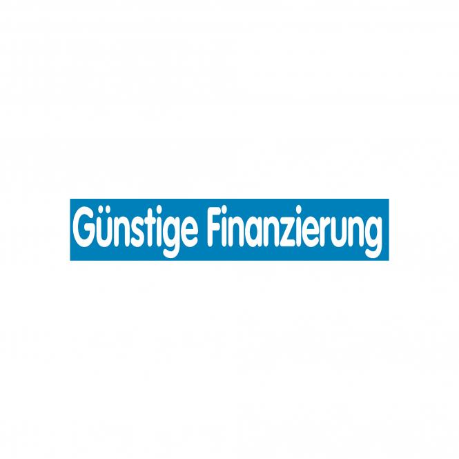 Slogan Stickers blue / white   Günstige Finanzierung
