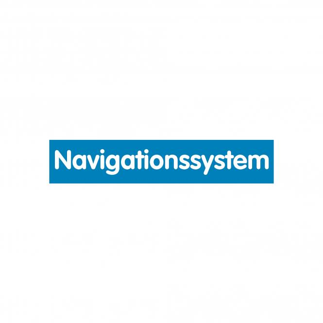 Slogan Stickers blue / white, 10 piece | Navigationssystem