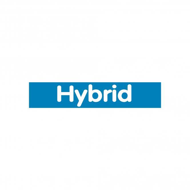 Slogan Stickers blue / white, 10 piece | Hybrid