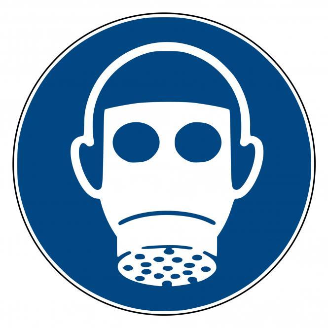 Gebotsschilder nach ASR A1.3 und DIN EN ISO 7010 | Atemschutz benutzen | Kunststoff