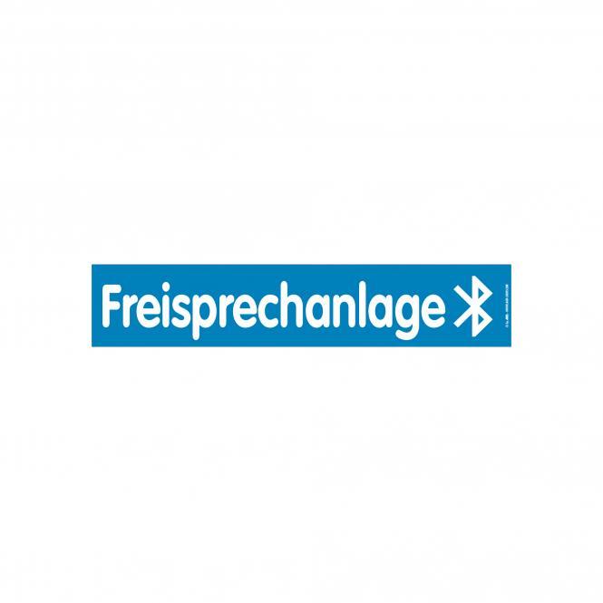 Slogan Stickers blue / white | Freisprechanlage über Bluetooth
