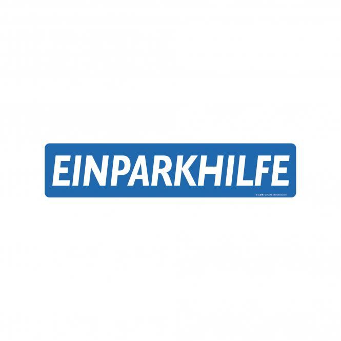Miniletter, blau/weiß, verschiedene Texte | Einparkhilfe