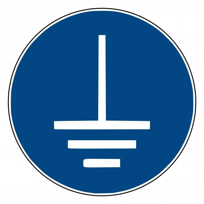 Mandatory Signs according to ASR A1.3 and DIN EN | Vor Benutzung erden | Plastic