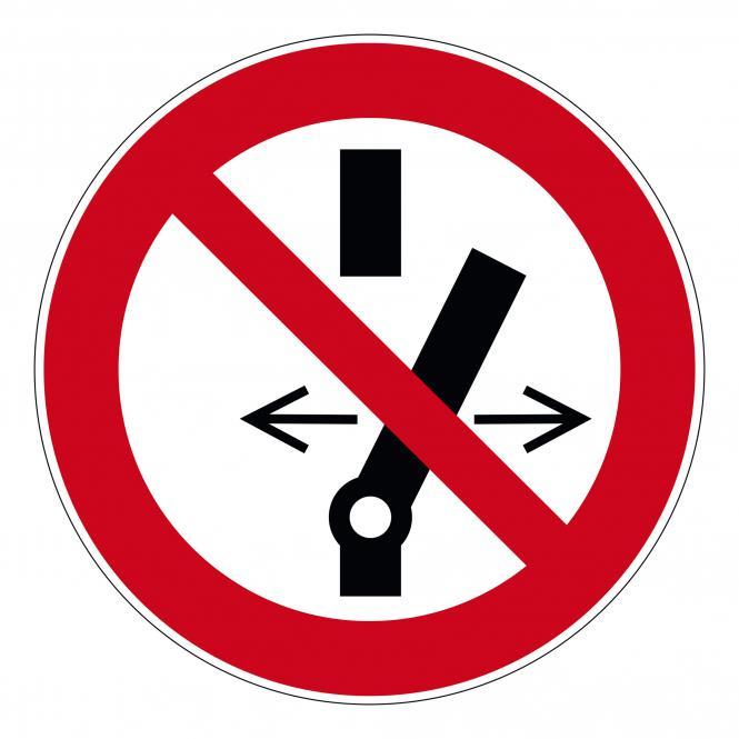 Verbotsschilder nach ASR A1.3 und DIN EN 7010 | Schalten verboten | Folie