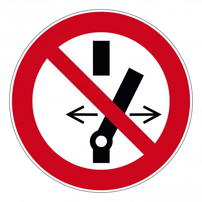 Prohibition Signs according to ASR A1.3 and DIN EN | Schalten verboten | Foil