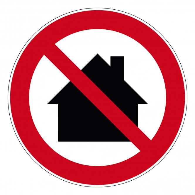 Verbotsschilder nach ASR A1.3 und DIN EN 7010 | Nicht in Wohngebieten benutzen | Kunststoff