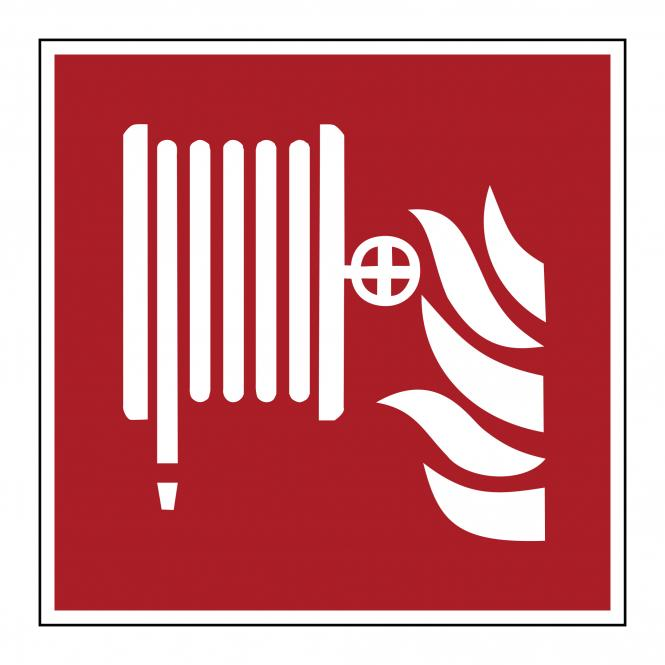 Brandschutzzeichen nach ASR A1.3 & DIN EN ISO 7010 | Löschschlauch | Kunststoff