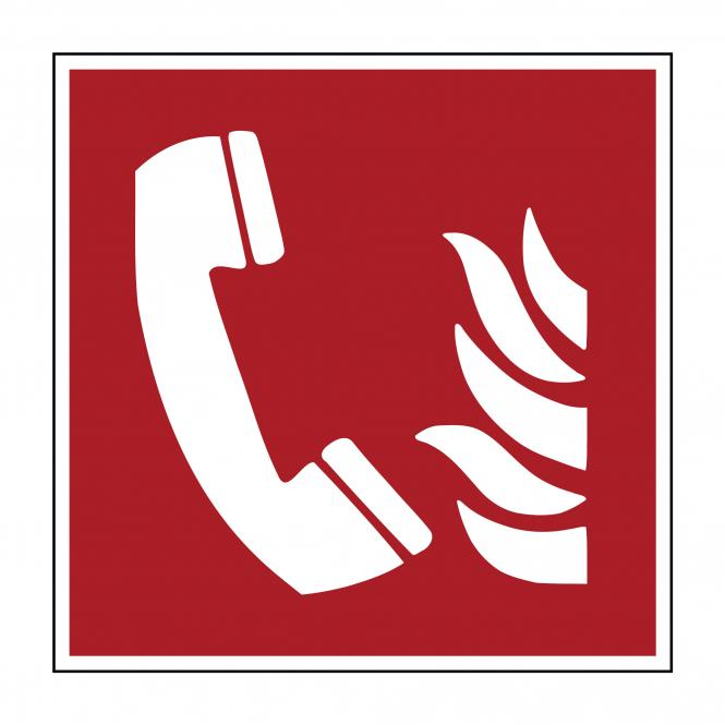 Brandschutzzeichen nach ASR A1.3 & DIN EN ISO 7010 | Brandmeldetelefon | Folie
