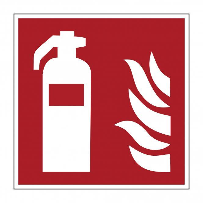 Brandschutzzeichen nach ASR A1.3 & DIN EN ISO 7010 | Feuerlöscher | Folie