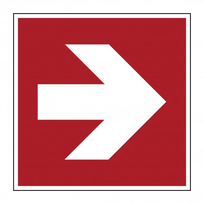 Brandschutzzeichen nach ASR A1.3 & DIN EN ISO 7010 | Richtungsangabe (gerade) | Folie