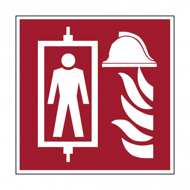 Fire Protection Signs according to ASR A1.3 & DIN | Feuerwehraufzug | Kunststoff