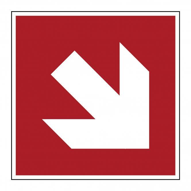 Brandschutzzeichen nach ASR A1.3 & DIN EN ISO 7010 | Richtungsangabe (schräg) | Kunststoff