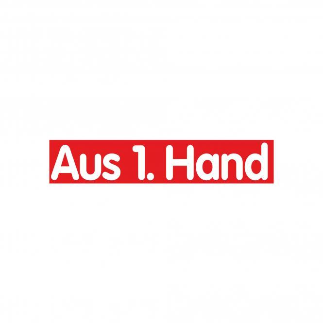 Slogan Stickers red / white, 10 piece | Aus 1. Hand