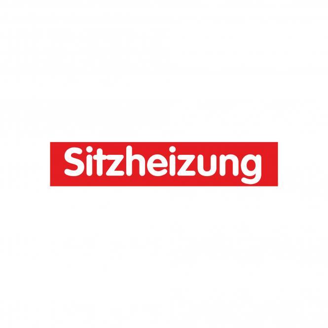 Slogan Stickers red / white, 10 piece | Sitzheizung