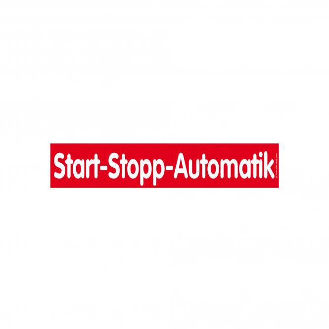 Slogan Stickers red / white, 10 piece | Start-Stopp-Automatik