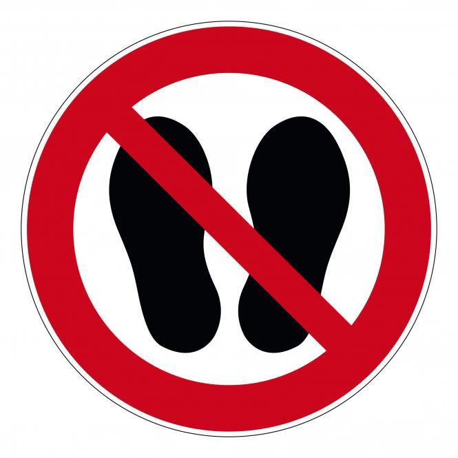 Verbotsschilder nach ASR A1.3 und DIN EN 7010 | Betreten der Fläche verboten | Folie