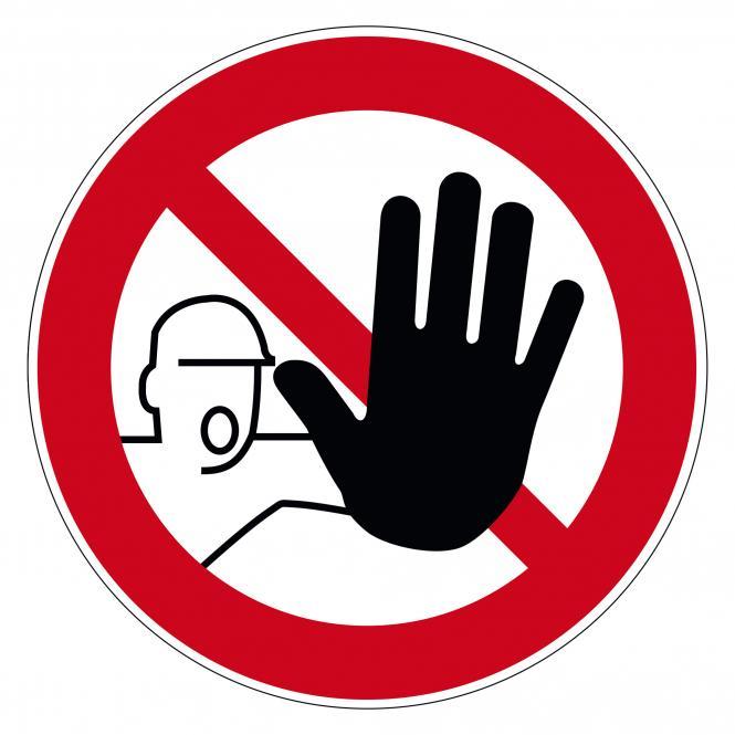 Prohibition Signs according to ASR A1.3 and DIN EN | D-P006 - Zutritt für Unbefugte verboten | Foil