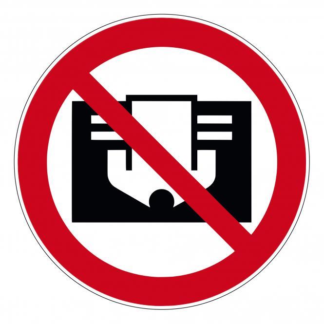 Verbotsschilder nach ASR A1.3 und DIN EN 7010 | D-P030 - Nicht abdecken | Kunststoff
