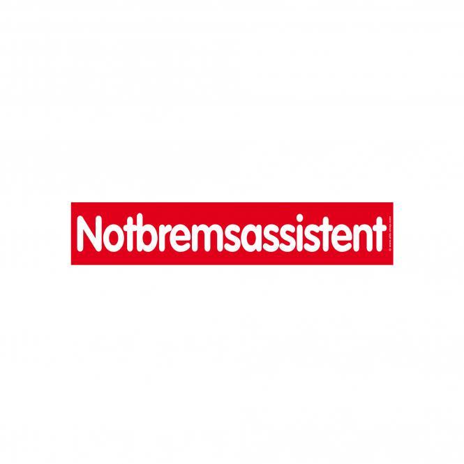 Slogan Stickers red / white, 10 piece | Notbremsassistent