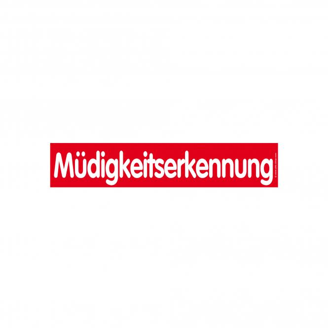 Slogan Stickers red / white, 10 piece | Müdigkeitserkennung