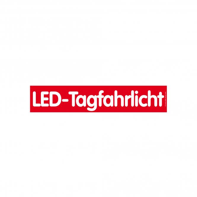 Slogan Stickers red / white | LED-Tagfahrlicht