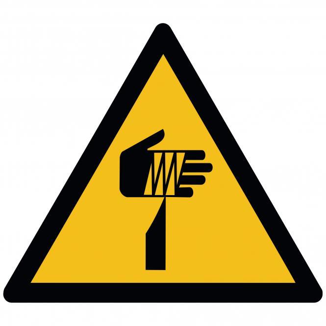 Warnschilder nach ASR A1.3 und DIN EN ISO 7010 | Warnung vor spitzem Gegenstand | Folie