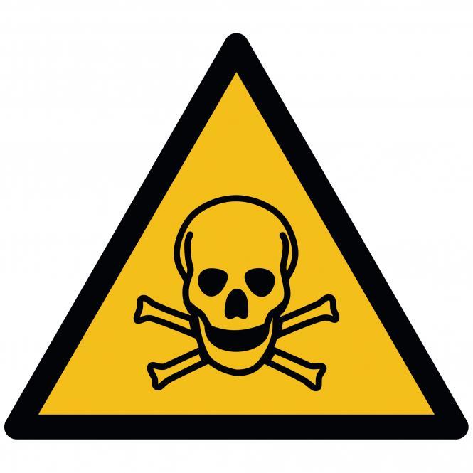 Warnschilder nach ASR A1.3 und DIN EN ISO 7010 | Warnung vor giftigen Stoffen | Folie