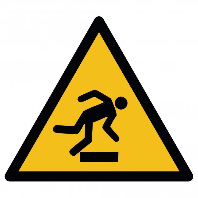 Warnschilder nach ASR A1.3 und DIN EN ISO 7010 | Warnung vor Hindernissen am Boden | Folie