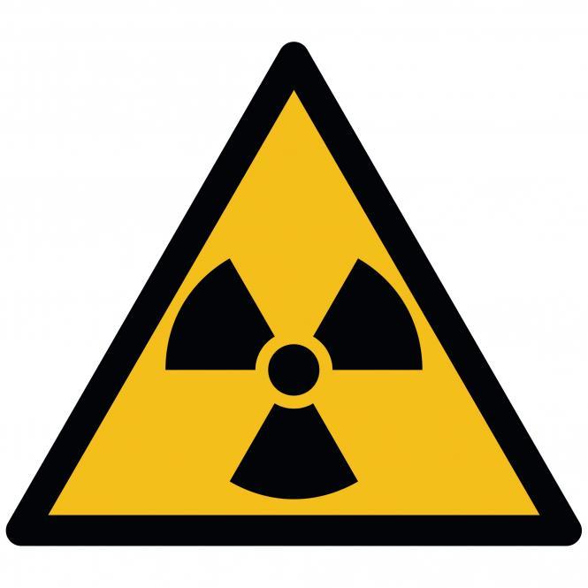 Warnschilder nach ASR A1.3 und DIN EN ISO 7010 | Warnung vor radioaktiven Stoffen | Folie