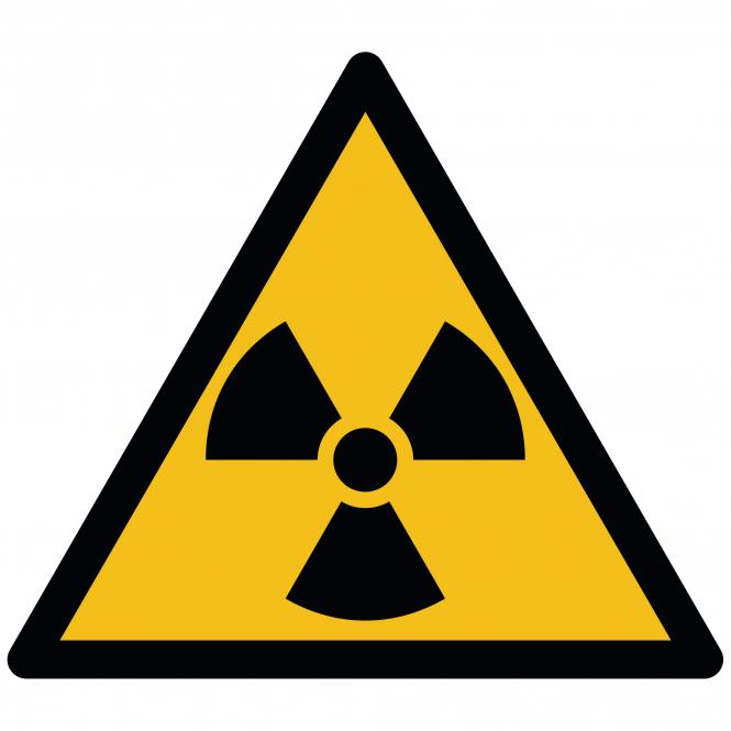 Warning Signs according to ASR A1.3 and DIN EN ISO | Warnung vor radioaktiven Stoffen | Foil