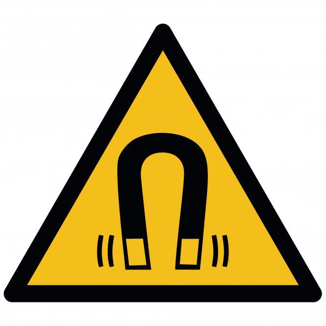 Warnschilder nach ASR A1.3 und DIN EN ISO 7010 | Warnung vor magnetischem Feld | Folie