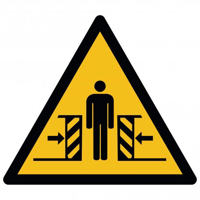 Warnschilder nach ASR A1.3 und DIN EN ISO 7010 | Warnung vor Quetschgefahr | Kunststoff