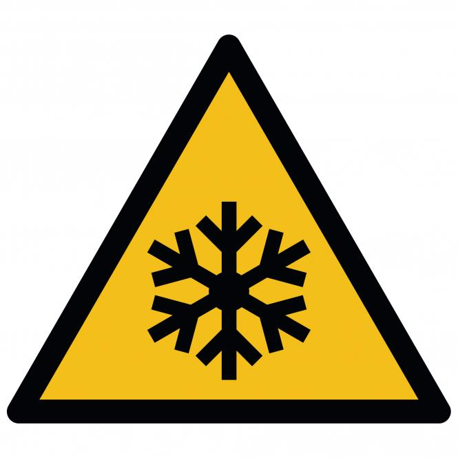 Warning Signs according to ASR A1.3 and DIN EN ISO | Warnung vor niedriger Temperatur | Plastic