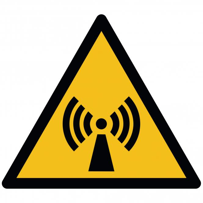 Warning Signs according to ASR A1.3 and DIN EN ISO | Warnung v. nicht ionisierender Strahlung | Plastic