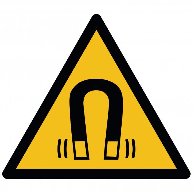 Warnschilder nach ASR A1.3 und DIN EN ISO 7010 | Warnung vor magnetischem Feld | Kunststoff