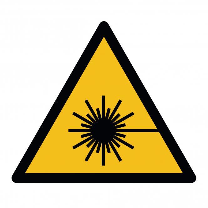 Warnschilder nach ASR A1.3 und DIN EN ISO 7010 | Warnung vor Laserstrahl | Kunststoff