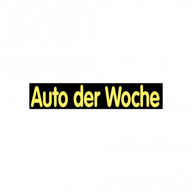 Slogan Stickers black / yellow | Auto der Woche