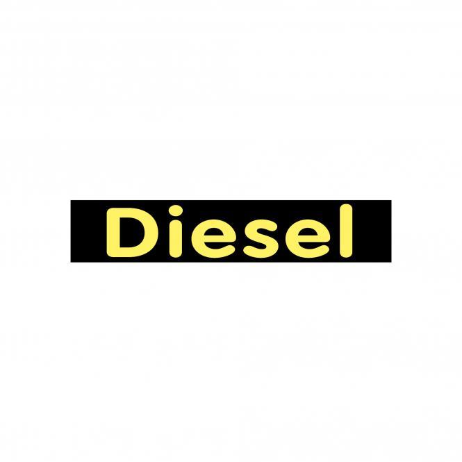 Hinweischilder schwarz/gelb 50 x 10cm | Diesel