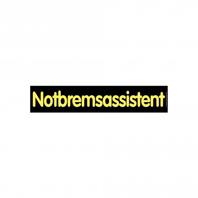 Slogan Stickers black / yellow | Notbremsassistent