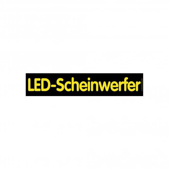 """Hinweisschild """"LED-Scheinwerfer"""" schwarz/gelb"""