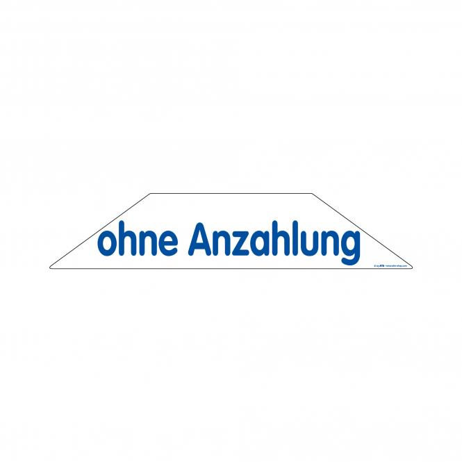 Trapeze Stickers blue / white | Ohne Anzahlung