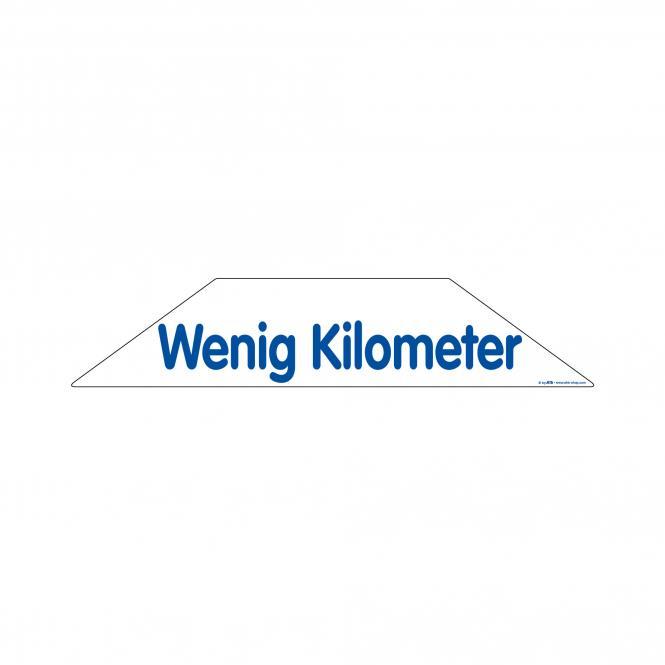 Trapeze Stickers blue / white | Wenig Kilometer