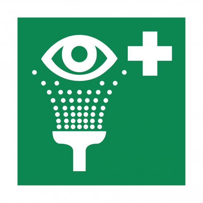 Rettungszeichen nach ASR A1.3 & DIN EN ISO 7010 | Augenspüleinrichtung | Kunststoff