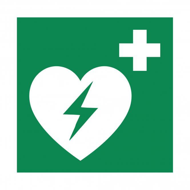 Rettungszeichen nach ASR A1.3 & DIN EN ISO 7010   Automatisierter Externer Defibrillator   Folie