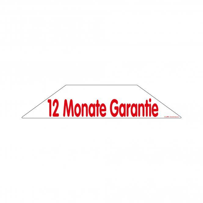 Trapez-Sticker rot / weiß | 12 Monate Garantie