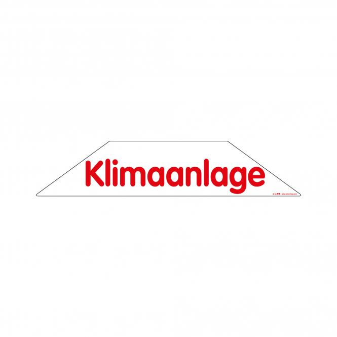 Trapeze Stickers red/white | Klimaanlage