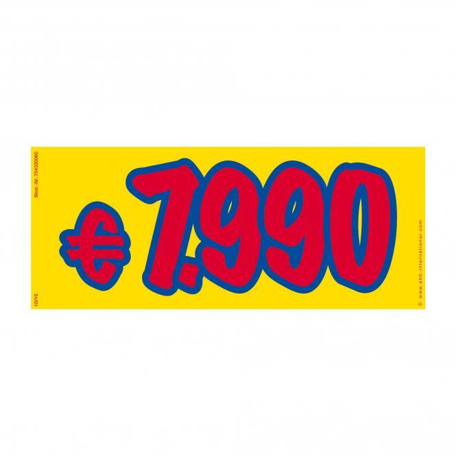 Preissticker rot / blau / gelb | € 7.990