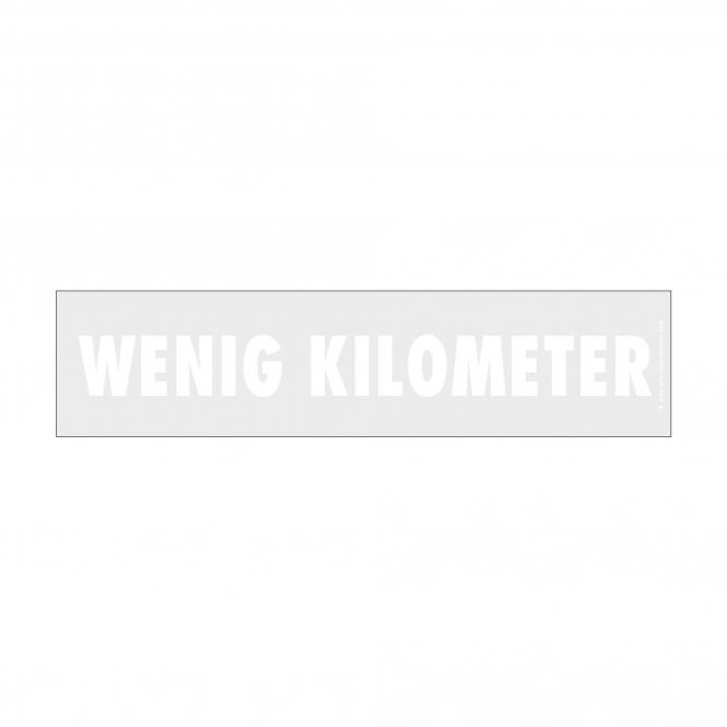 easy stick with German imprint white   Wenig Kilometer