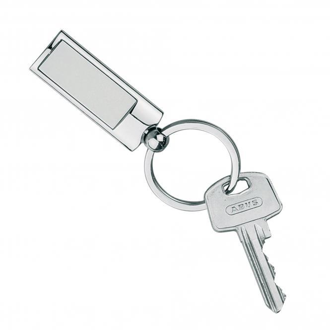 Schlüsselanhänger aus Metall mit drehbarer Kugel